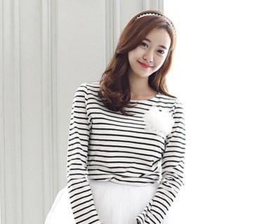 グッデイシャツ+ザ・デイ円形の女性長袖_15C08