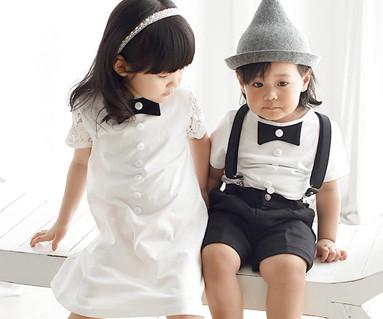 モダンロマンスファミリー赤ちゃんショートTシャツ_16B10