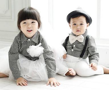 チェックシャツコンボ赤ちゃん長袖_15C11