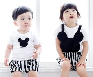 ミニ家族赤ちゃんショートTシャツ_15B28