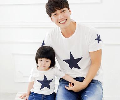 オールスター円形パパと赤ちゃんショートTシャツ_14B39
