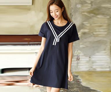 ツーウェー女性ショートTシャツ_16B24