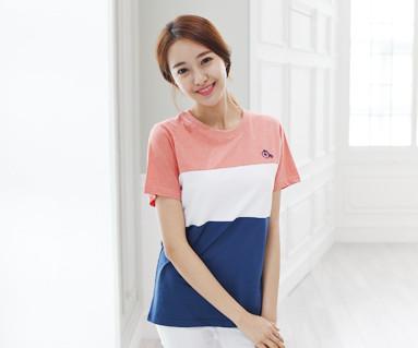 トリニティ円形の女性ショートTシャツ_15B04