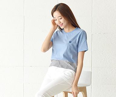デイリーラウンド女性ショートTシャツ_16B20