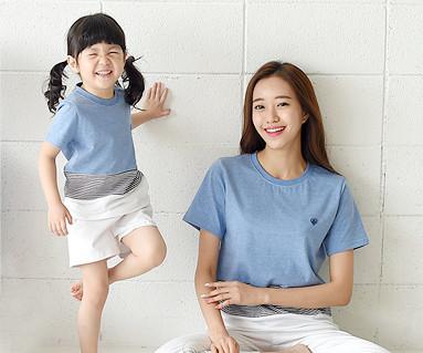 デイリーラウンドママと赤ちゃんショートTシャツ_16B20