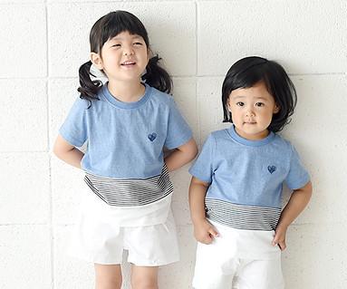 デイリーラウンド赤ちゃんショートTシャツ_16B20