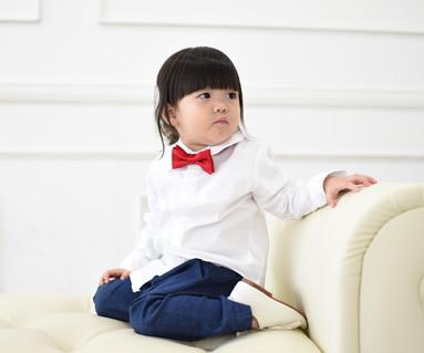 オックスフォードシャツホワイト赤ちゃん長袖_14C15