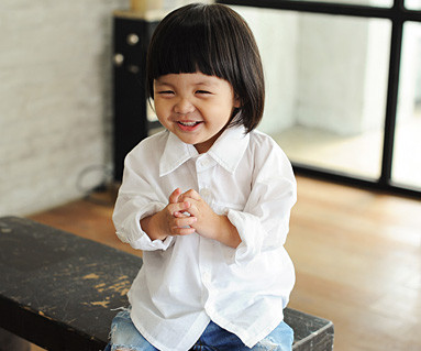 隠しポケットシャツ赤ちゃん長袖_14B23