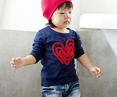 チェーン刺繍円形の赤ちゃん長袖_11C01