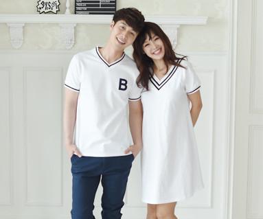 サマースクールカップルショートTシャツ_16B11