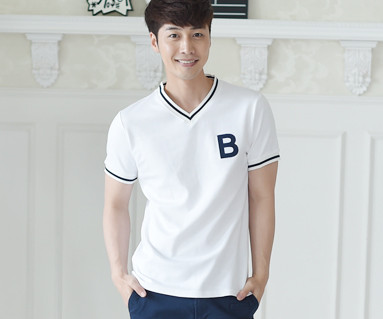 サマースクールの男性ショートTシャツ_16B11