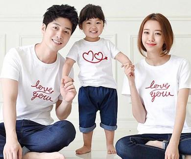 フライング円形家族ショートTシャツ_15B20