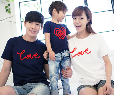 チェーン刺繍円形家族ショートTシャツ_12B01