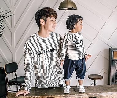 ハッピーダンガラファミリーパパと赤ちゃん長袖_16C15