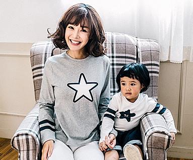 別のラインファミリーのお母さんと赤ちゃんの長袖_16C13