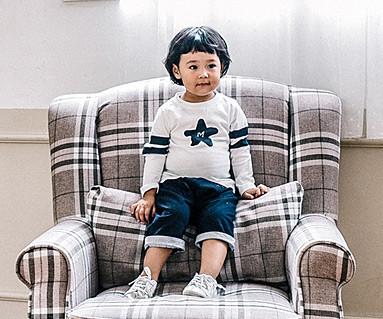 別のラインファミリーの赤ちゃん長袖_16C13
