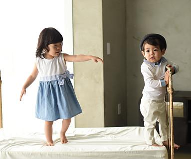 ウィンディ家族赤ちゃんショートTシャツ_15A06