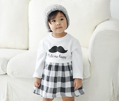 モダンチェックファミリー赤ちゃん長袖_16A05