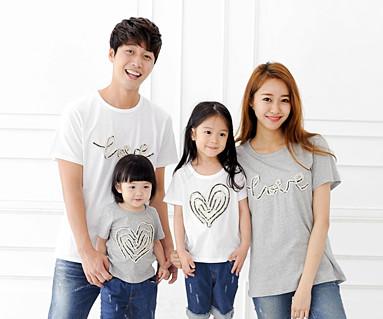 デニムロープ円形家族ショートTシャツ_14B31
