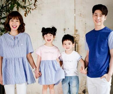 コットンブラーサムst家族ショートTシャツ_17B04
