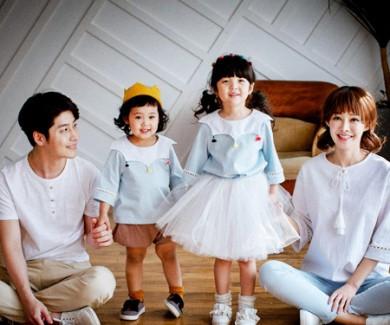 タッセル装飾家族ショートTシャツ_17B01