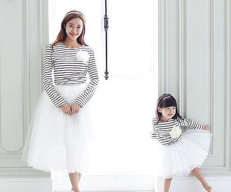 グッデイシャツ+ザ・デイ円形の母親と赤ちゃん長袖_15C08