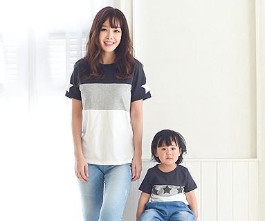 マイスター円形の母親と赤ちゃんショートTシャツ_16B12