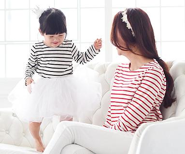 ザ・デイ円形の母親と赤ちゃん長袖_15A20