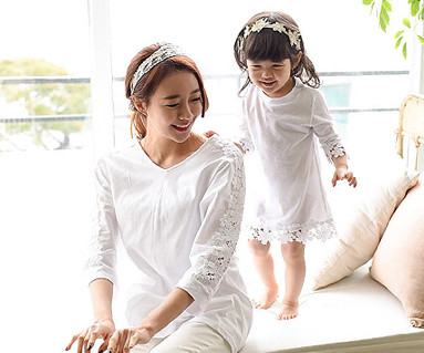 モーニング家族の母親と赤ちゃん長袖_15A11