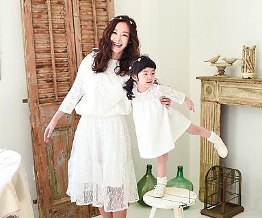 ミスティック家族の母親と赤ちゃんショートTシャツ_16A10