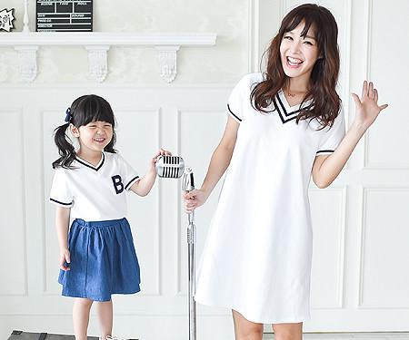 """サマースクールママと赤ちゃんショートTシャツ_16B11<font color=""""#FF6666""""><strong>[注文可能]</strong>"""