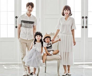 [家族のT&家族ルック]マイルド家族ショートTシャツ_17B13
