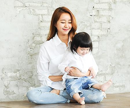 隠しポケットシャツ母親と赤ちゃん長袖_14B23