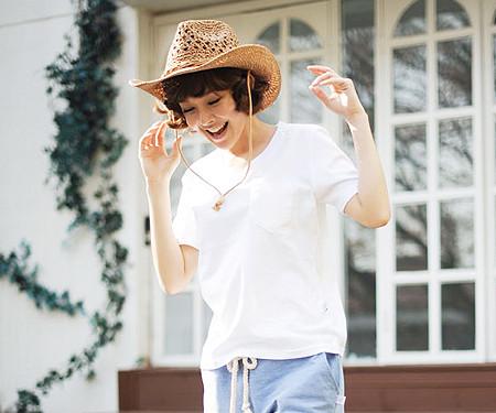 クリーンクリーン円形の女性ショートTシャツ_13B28