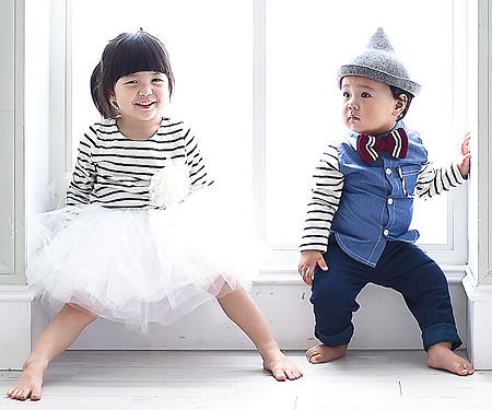 グッデイシャツ+ザ・デイ円形の赤ちゃん長袖_15C08