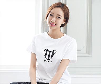 ミニ家族の女性ショートTシャツ_15B28