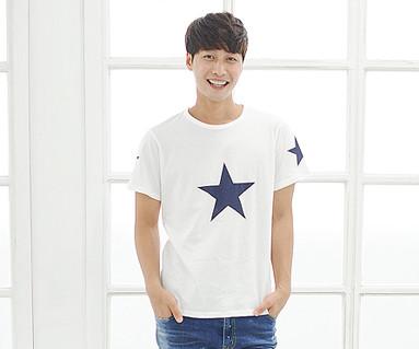 オールスター円形の男性ショートTシャツ_14B39