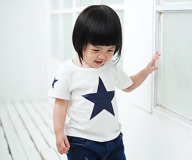 オールスター円形の赤ちゃんショートTシャツ_14B39
