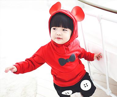 ミニーマウス家族赤ちゃん長袖_14C08