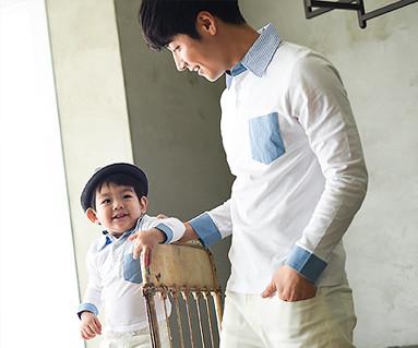 ウィンディ家族パパと赤ちゃん長袖_15A06
