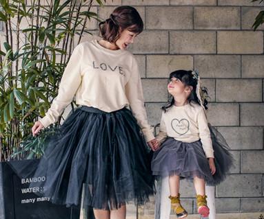 ロットラブママと赤ちゃんの長袖_17C07