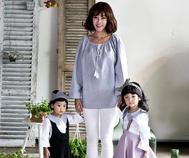 ウィニーウィニーファミリーのお母さんと赤ちゃんの長袖_16C16