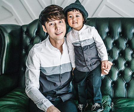 バルーン袖パパと赤ちゃん長袖_16C01