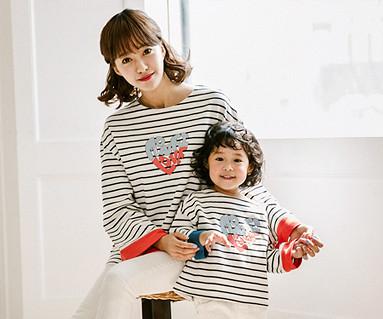 ロルロルハートママと赤ちゃんの長袖_17C05