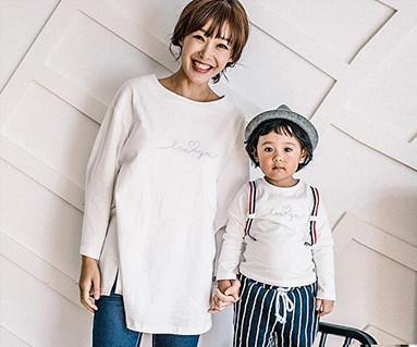 ラブサスペンダーポイント母親と赤ちゃん長袖_16C08