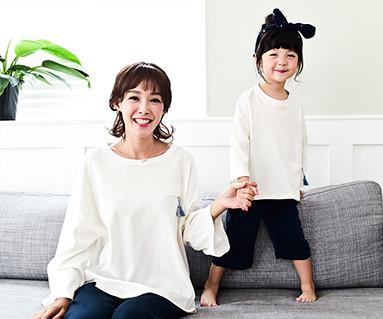 ラウンジタッセル母親と赤ちゃん長袖_16C11