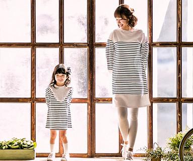 アニカSTママと赤ちゃんの長袖_17A06