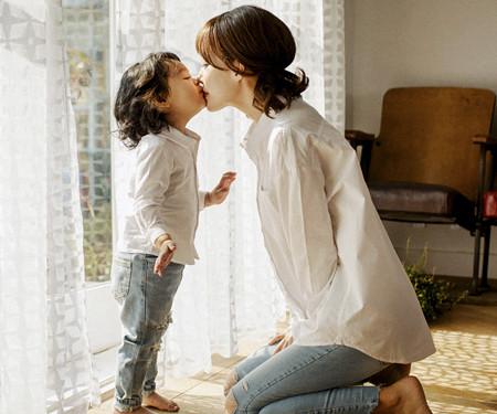 ベーシックシャツママと赤ちゃんの長袖_17A16A