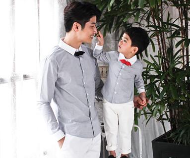 ロマンチックロイヤルパパと赤ちゃん長袖_17A11
