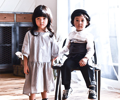 バルーン袖の赤ちゃん長袖_16C01